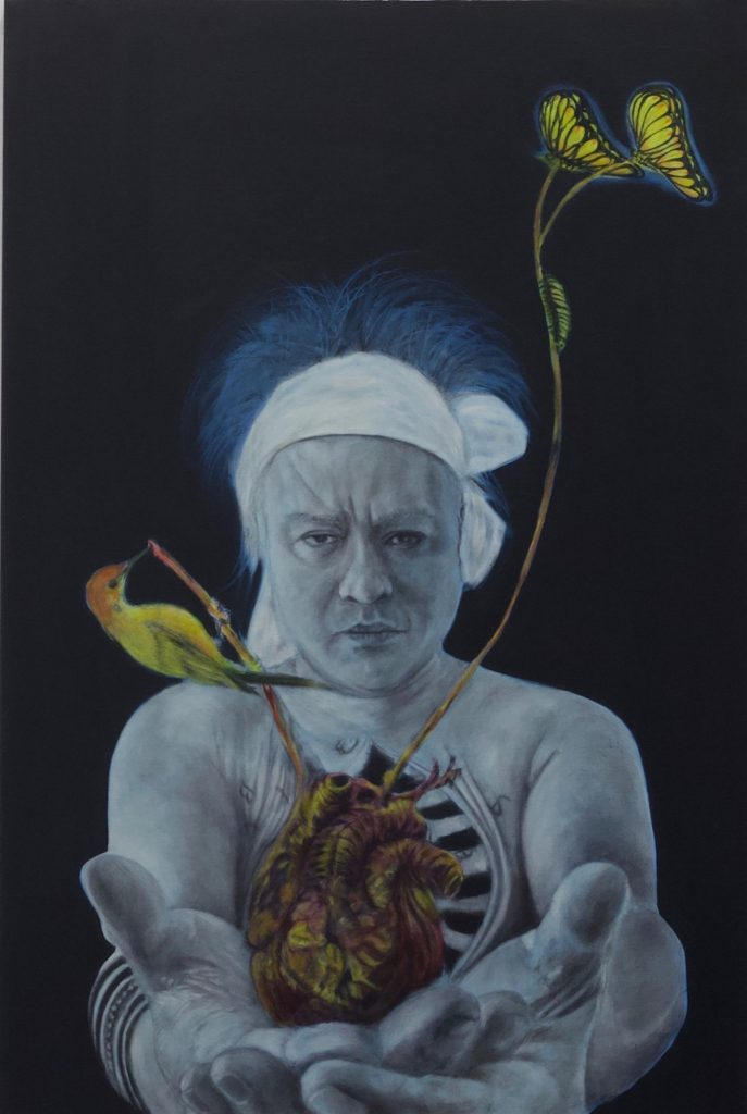 Sometimes I just feel the way, oil no canvas, 28X24, 2020 by Cesar Conde